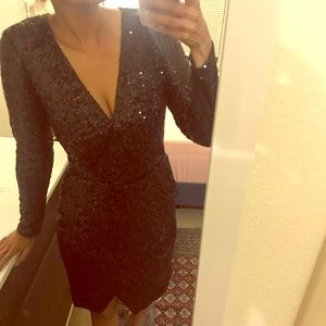 Black Sequins Dress - Sale